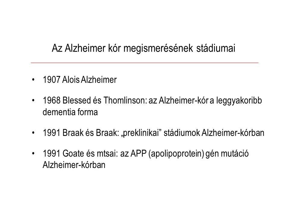 Az Alzheimer kór megismerésének stádiumai