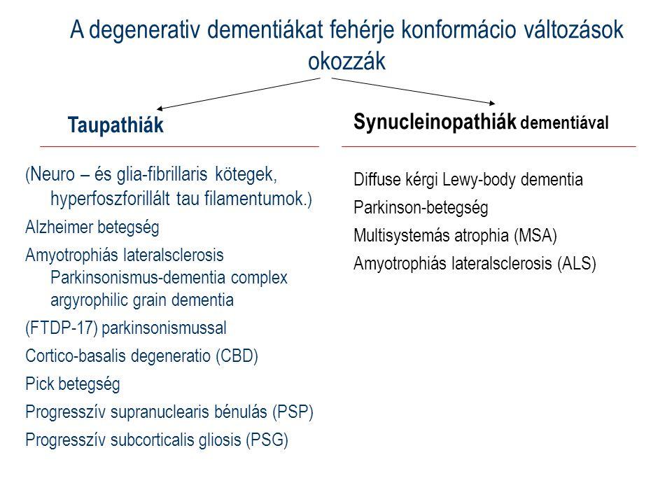 A degenerativ dementiákat fehérje konformácio változások okozzák