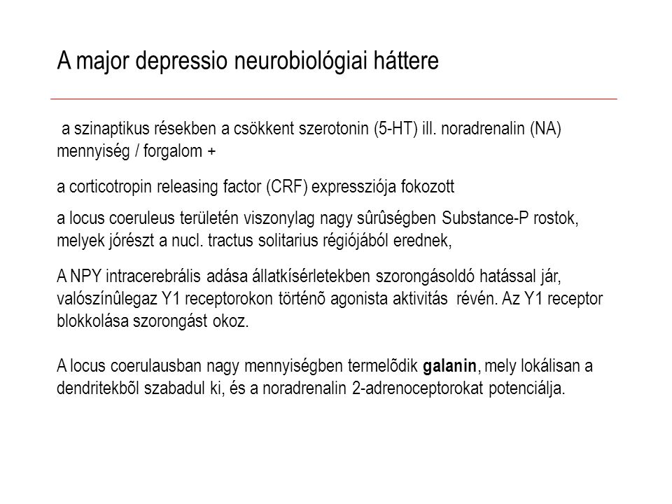 A major depressio neurobiológiai háttere