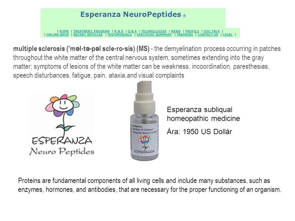 Esperanza NeuroPeptides ® Esperanza NeuroPeptides ®