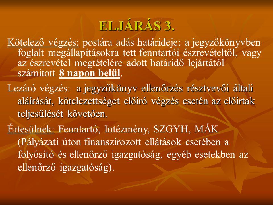 ELJÁRÁS 3.