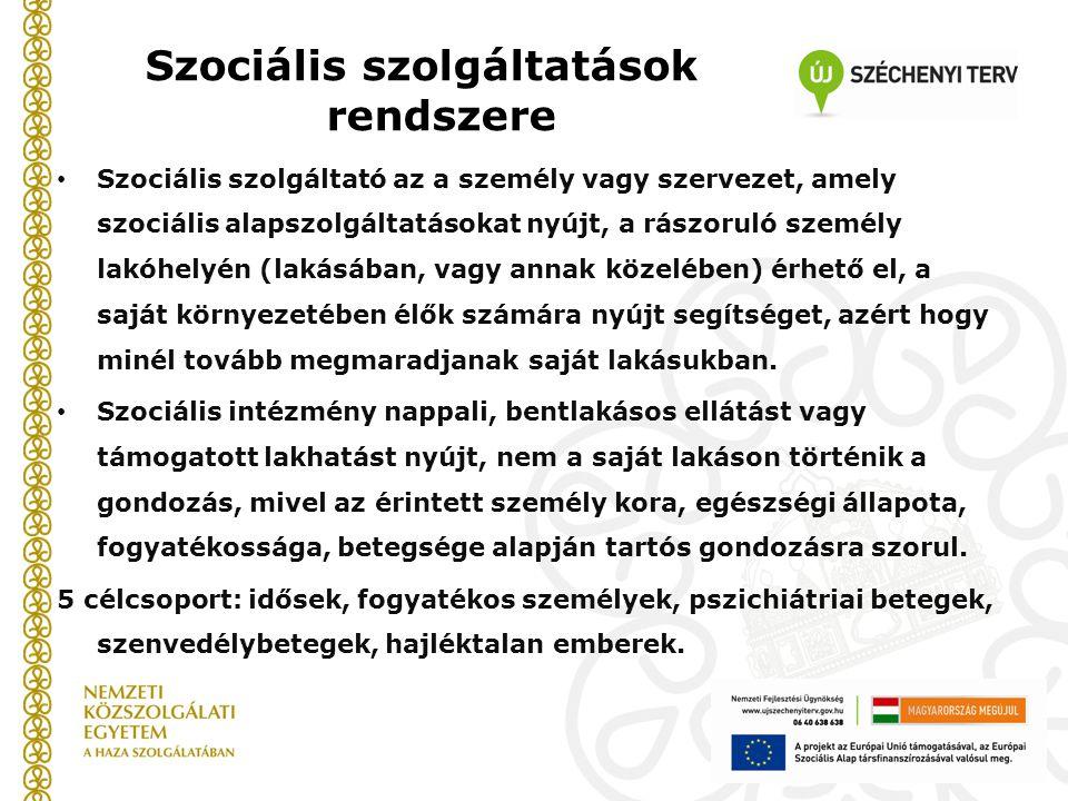 Szociális szolgáltatások rendszere