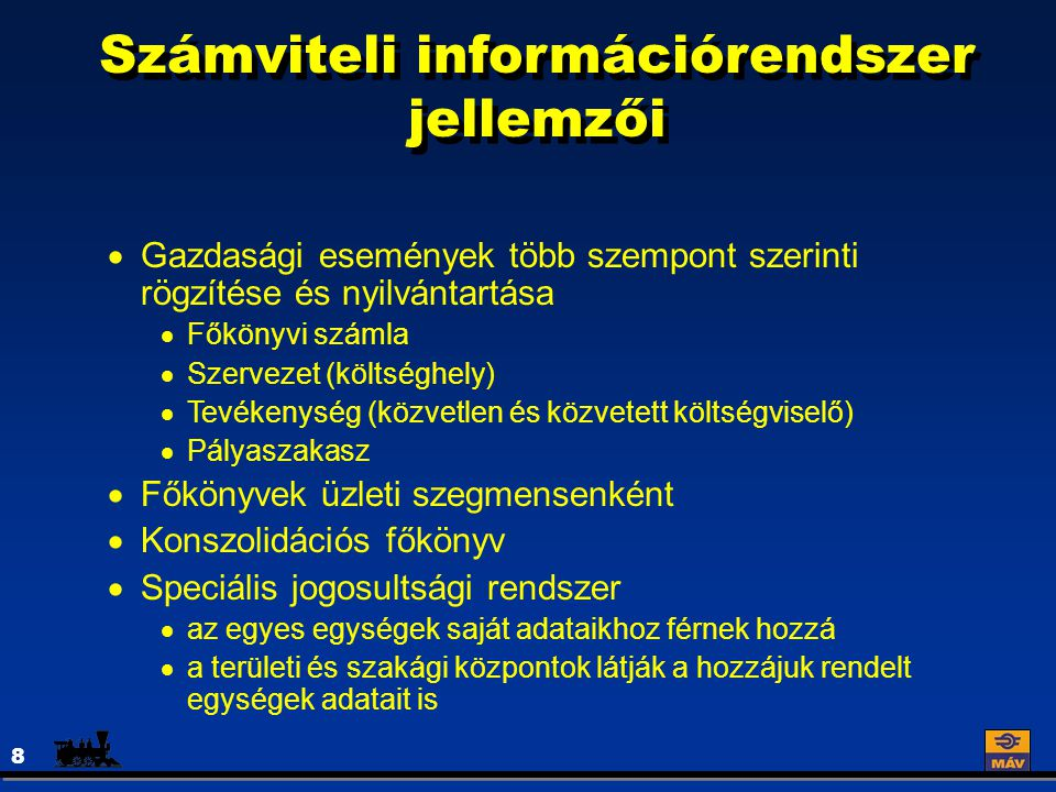 Számviteli információrendszer jellemzői