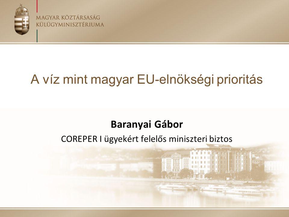 A víz mint magyar EU-elnökségi prioritás