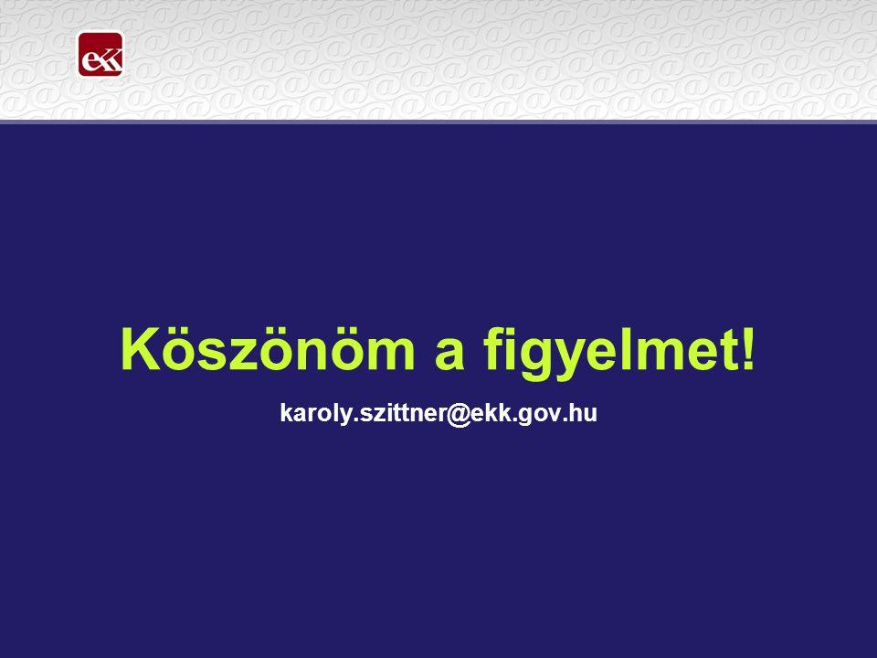 Köszönöm a figyelmet! karoly.szittner@ekk.gov.hu