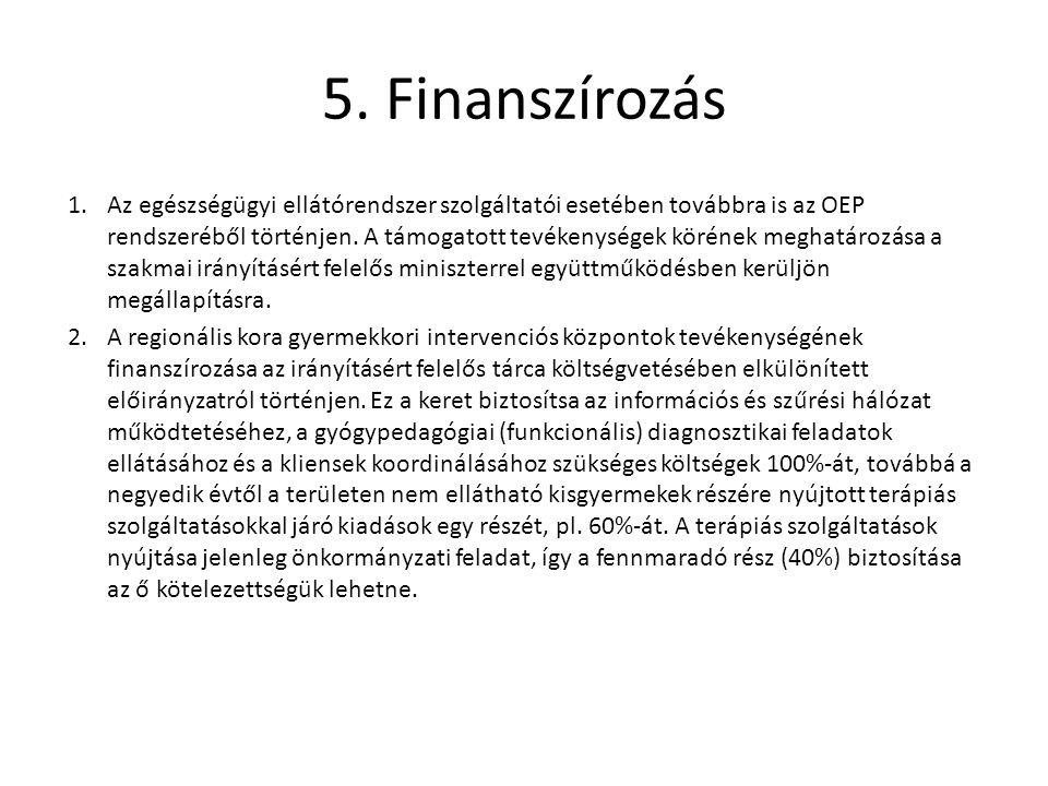 5. Finanszírozás
