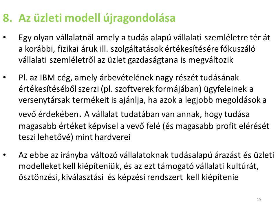Az üzleti modell újragondolása