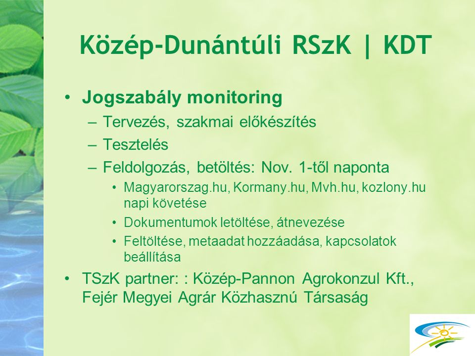 Közép-Dunántúli RSzK | KDT