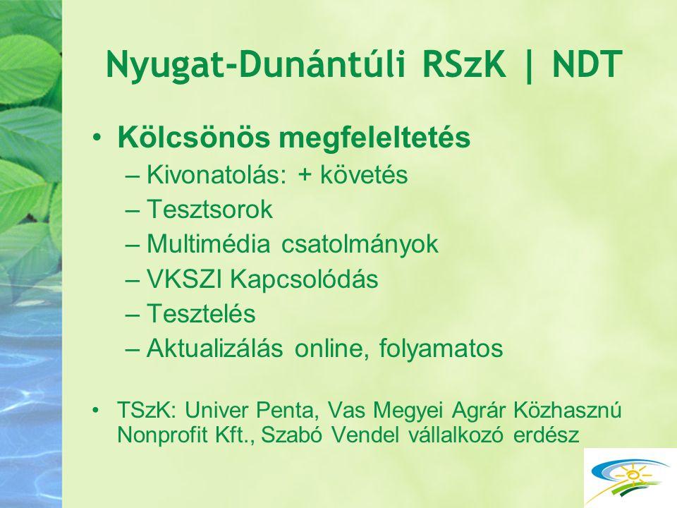 Nyugat-Dunántúli RSzK | NDT