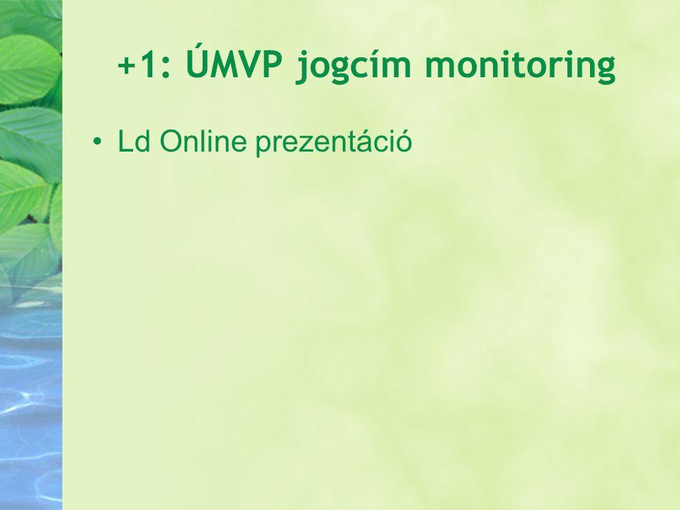 +1: ÚMVP jogcím monitoring