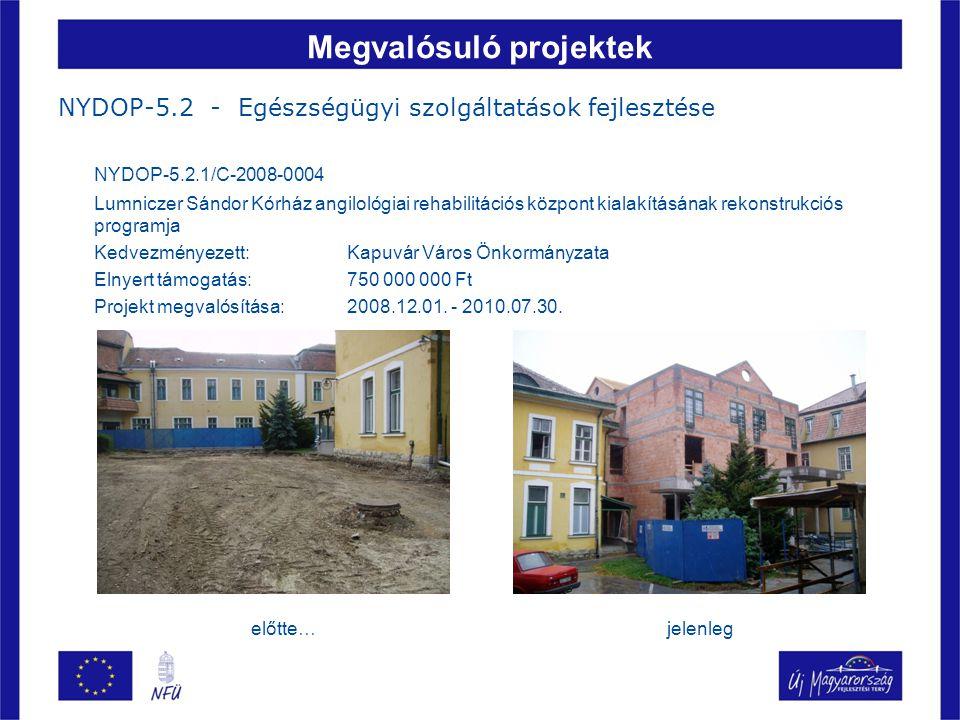 Megvalósuló projektek