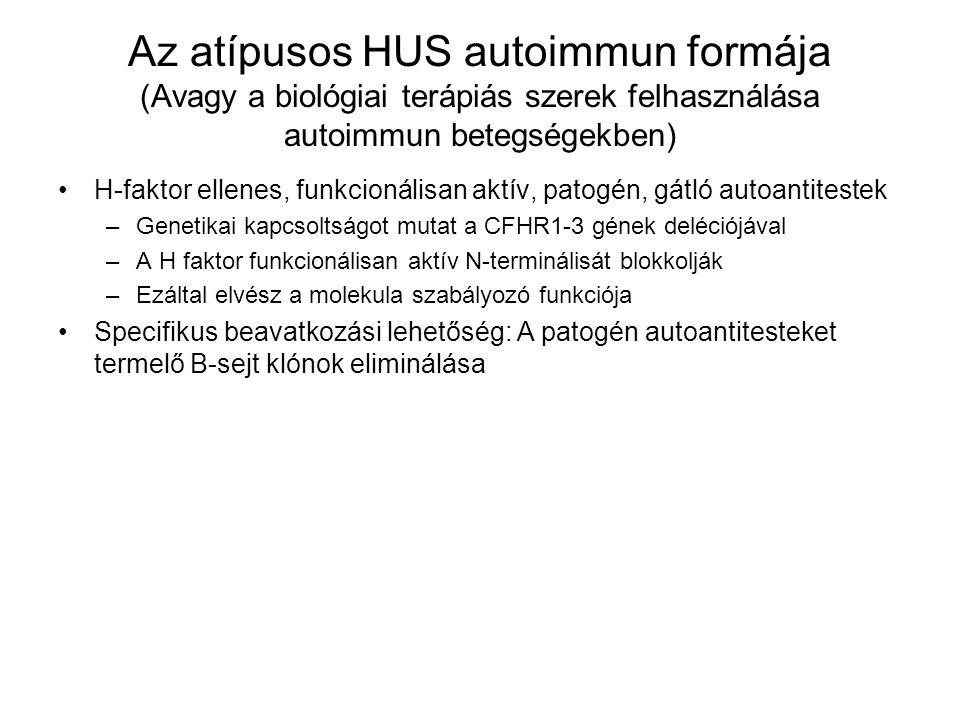 Az atípusos HUS autoimmun formája (Avagy a biológiai terápiás szerek felhasználása autoimmun betegségekben)