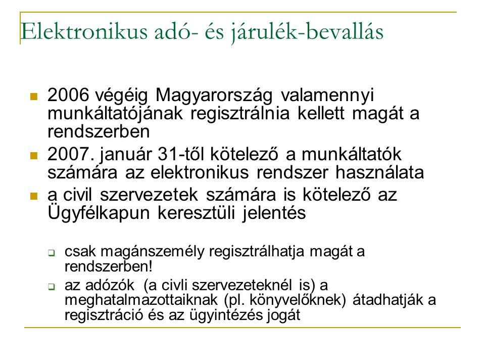 Elektronikus adó- és járulék-bevallás