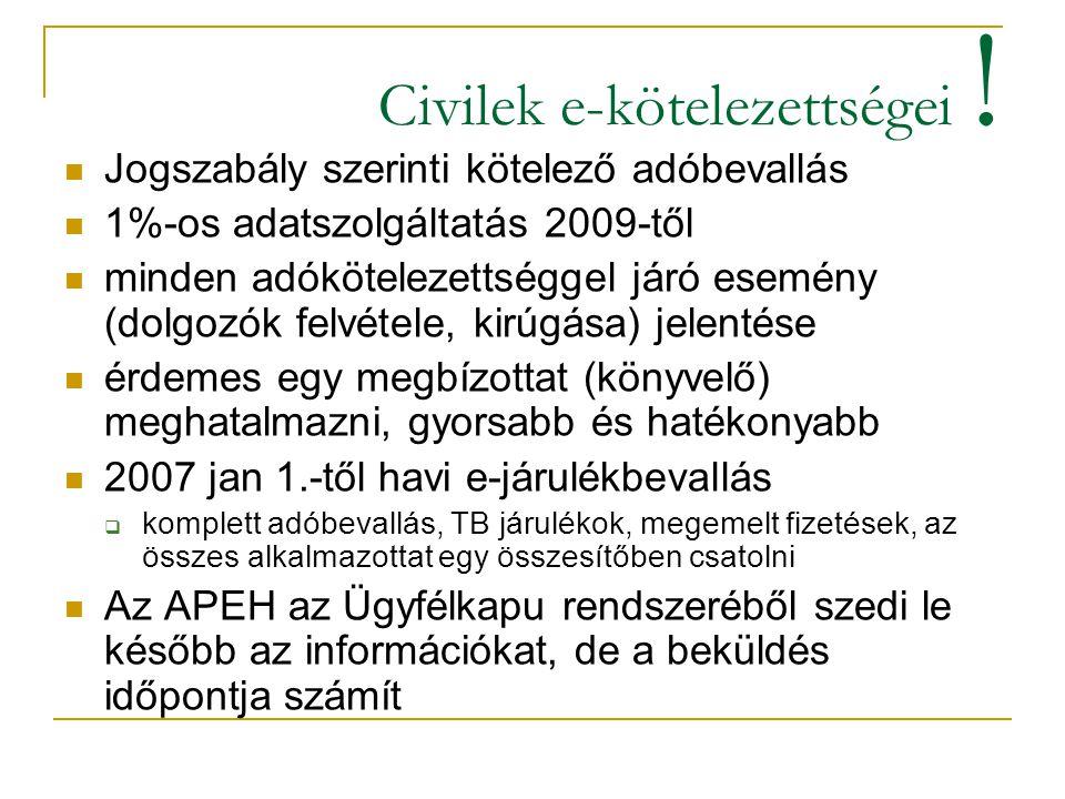 Civilek e-kötelezettségei !