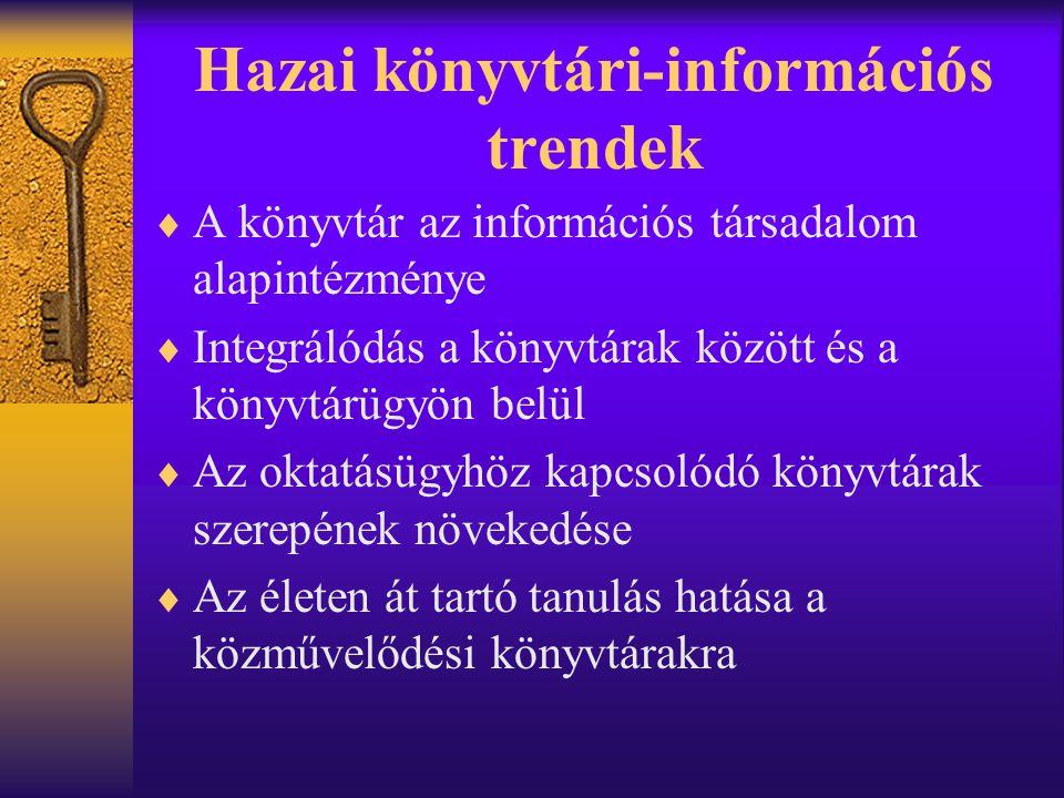 Hazai könyvtári-információs trendek