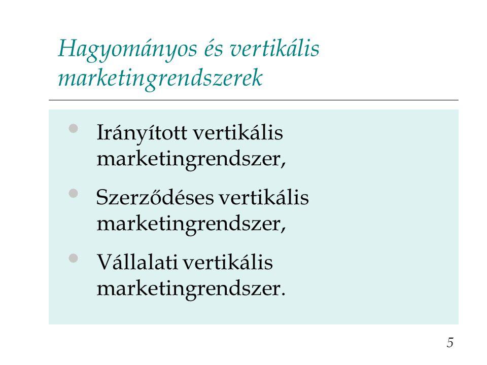 Hagyományos és vertikális marketingrendszerek