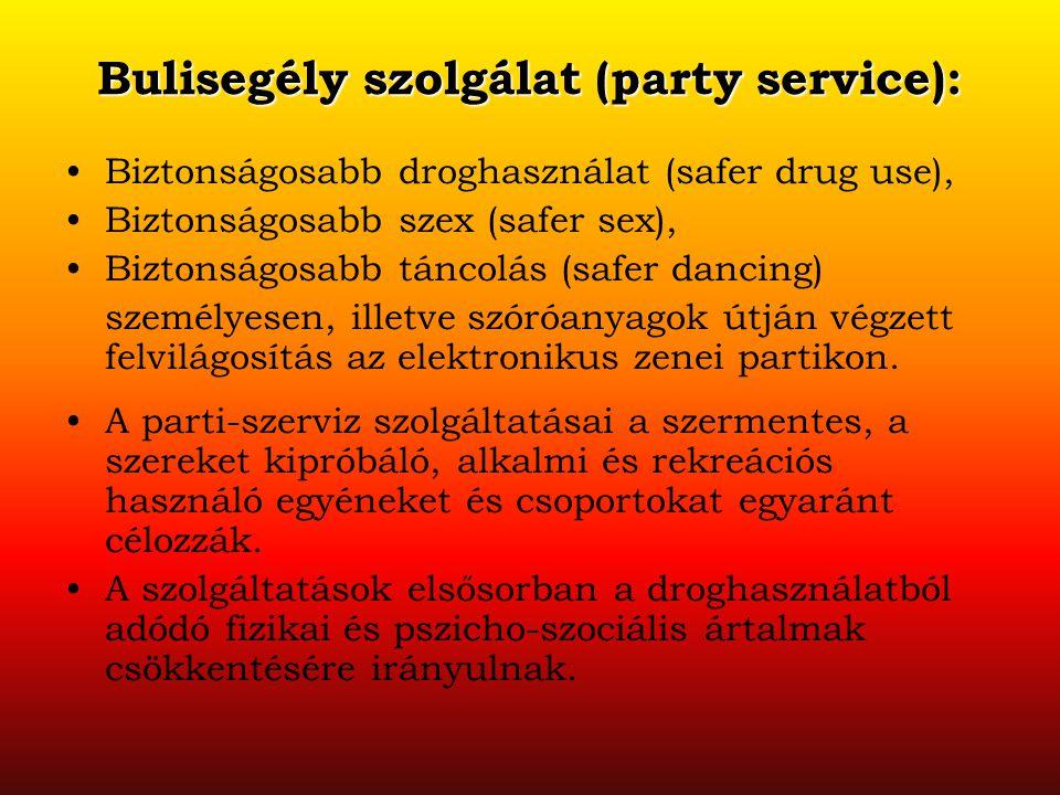 Bulisegély szolgálat (party service):