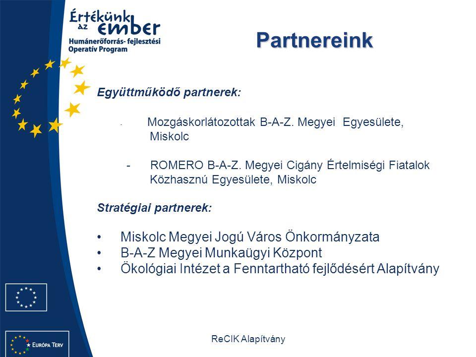 Partnereink Miskolc Megyei Jogú Város Önkormányzata