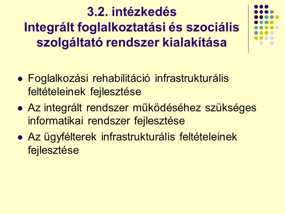 3.2. intézkedés Integrált foglalkoztatási és szociális szolgáltató rendszer kialakítása