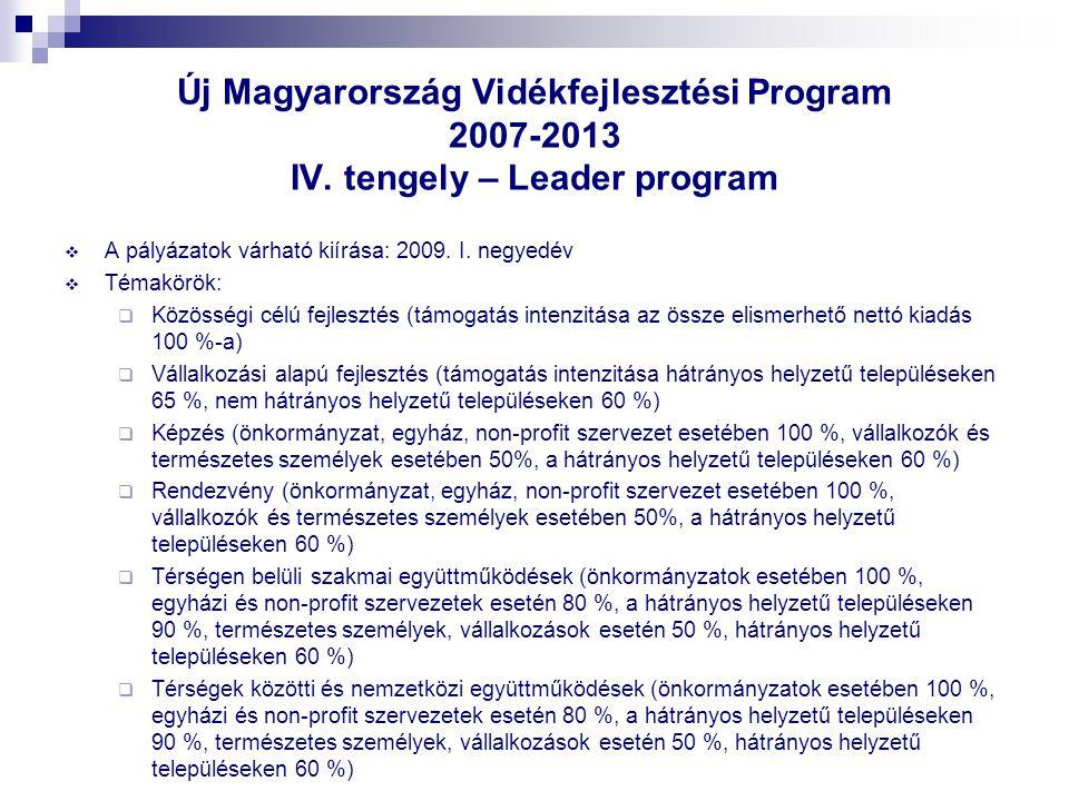 Új Magyarország Vidékfejlesztési Program 2007-2013 IV