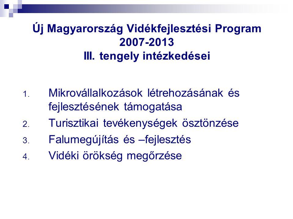 Új Magyarország Vidékfejlesztési Program 2007-2013 III