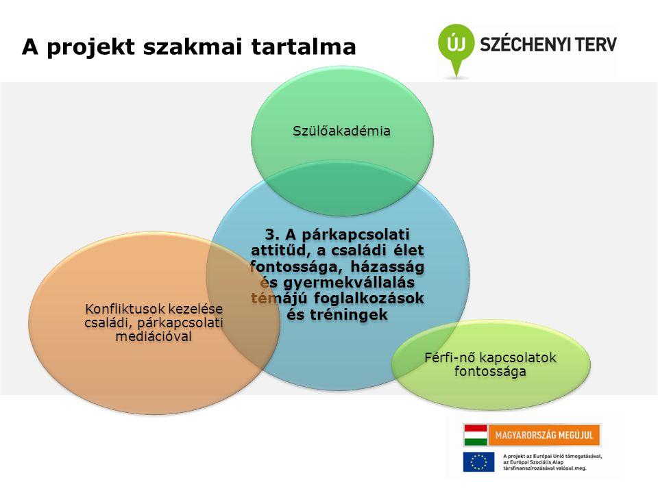 A projekt szakmai tartalma