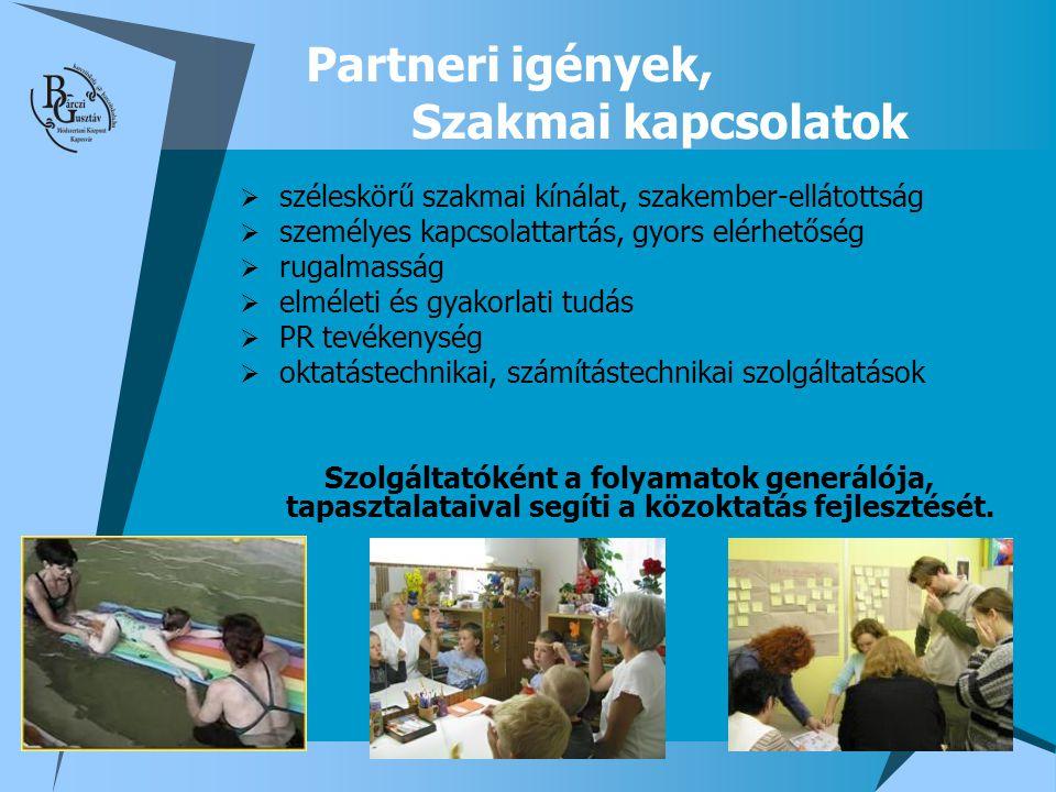 Partneri igények, Szakmai kapcsolatok