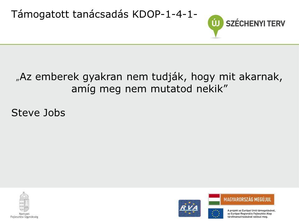 Támogatott tanácsadás KDOP-1-4-1-