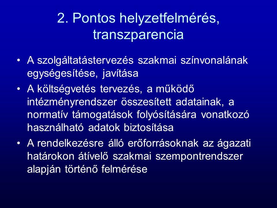 2. Pontos helyzetfelmérés, transzparencia