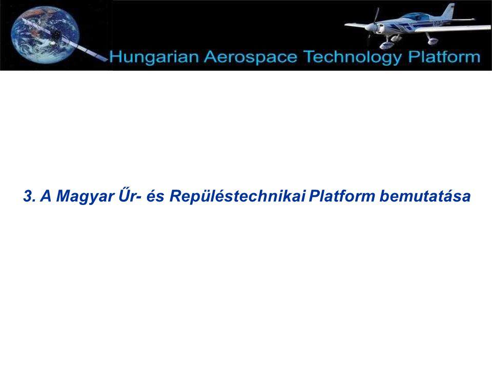 3. A Magyar Űr- és Repüléstechnikai Platform bemutatása