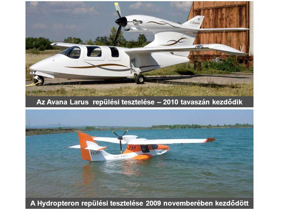 Az Avana Larus repülési tesztelése – 2010 tavaszán kezdődik