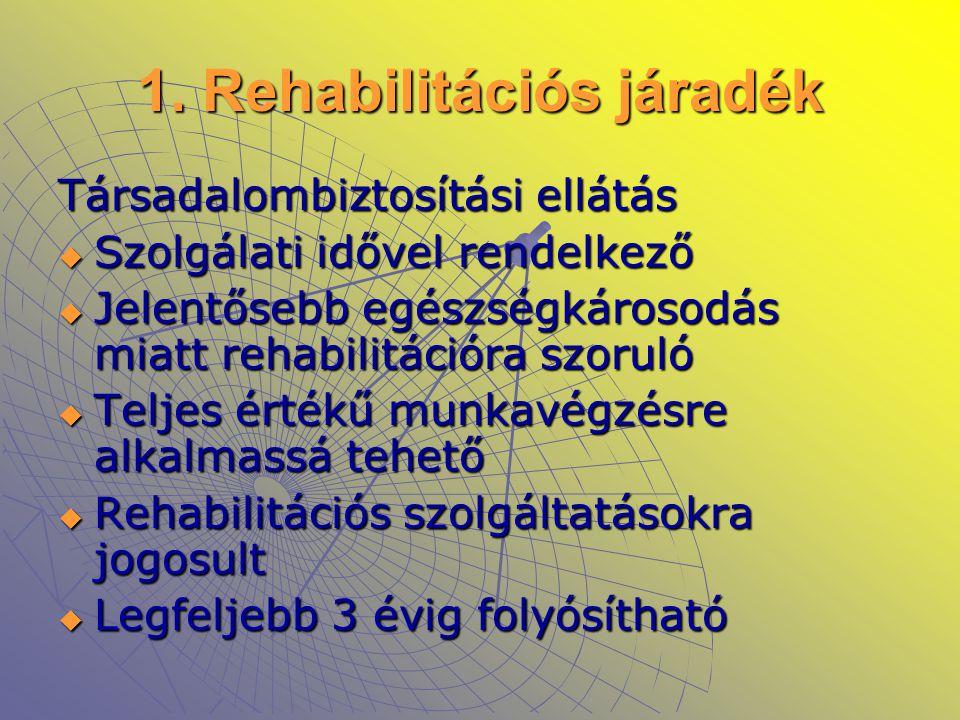 1. Rehabilitációs járadék