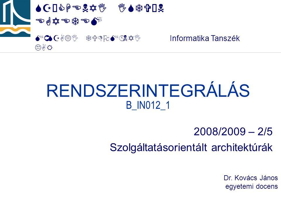 RENDSZERINTEGRÁLÁS B_IN012_1