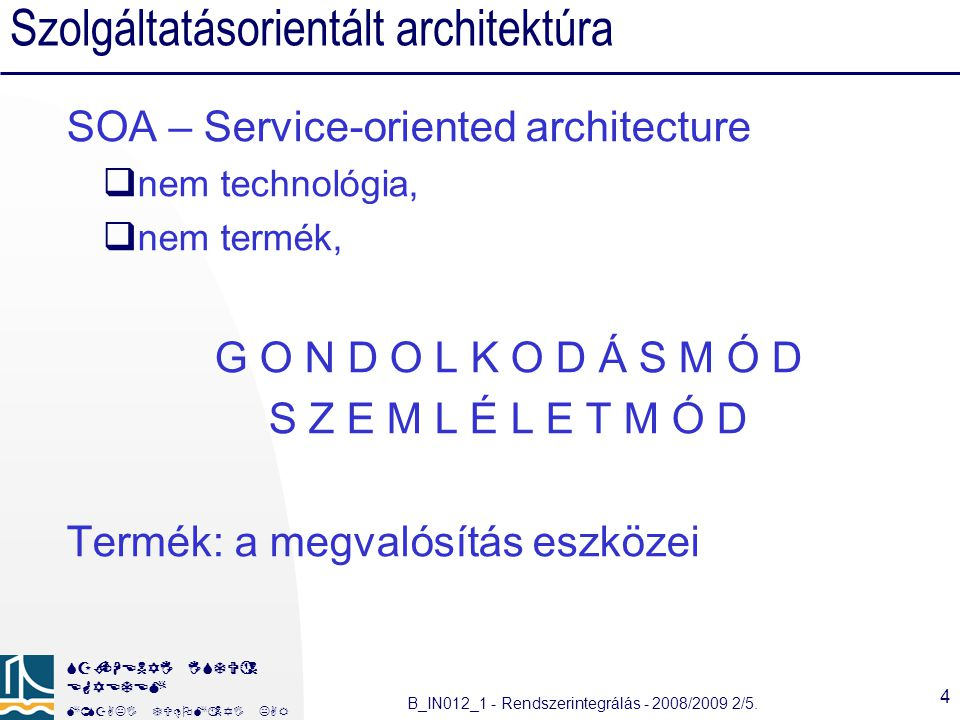 Szolgáltatásorientált architektúra