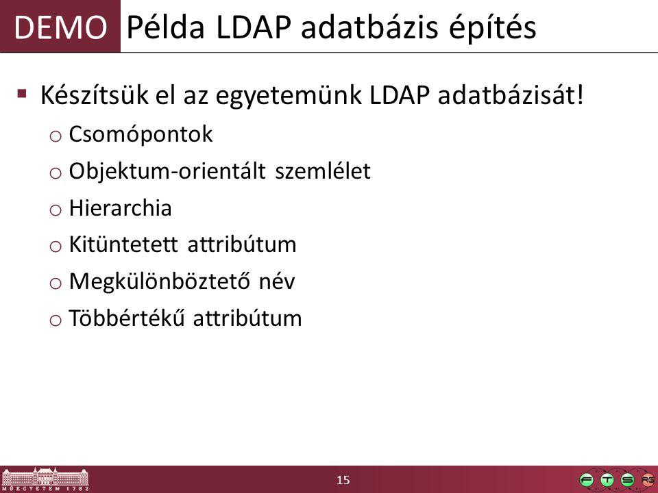 Példa LDAP adatbázis építés