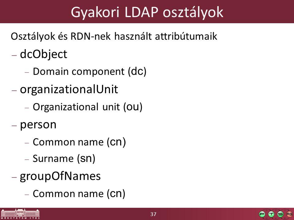 Gyakori LDAP osztályok