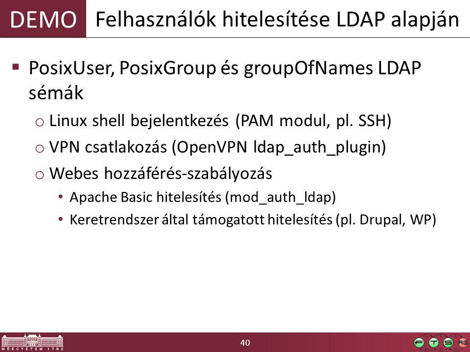 Felhasználók hitelesítése LDAP alapján
