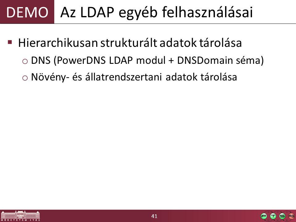 Az LDAP egyéb felhasználásai