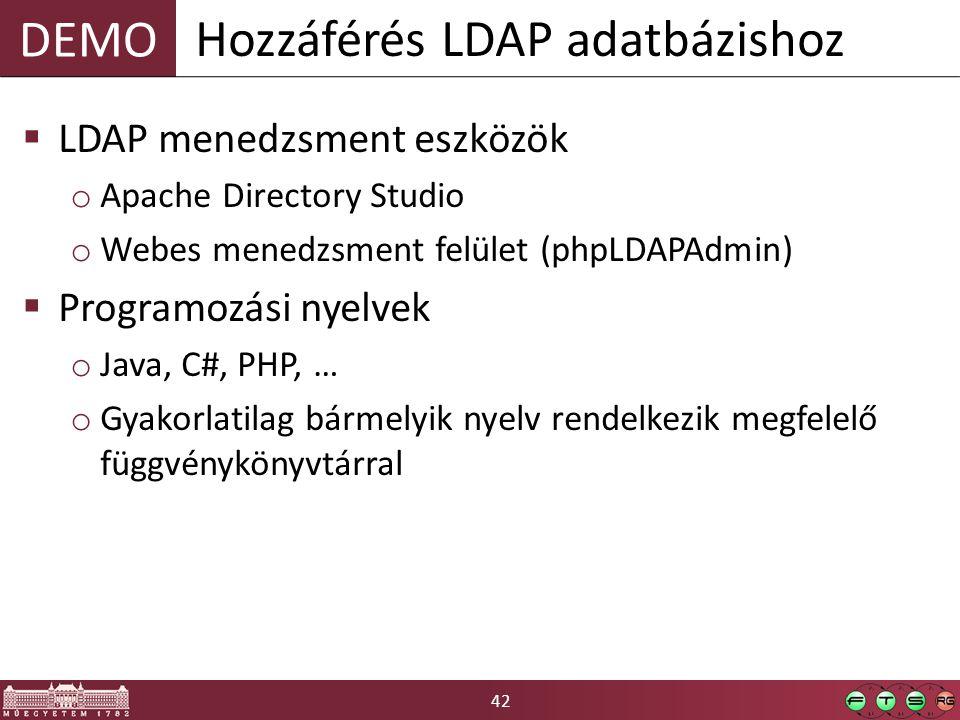 Hozzáférés LDAP adatbázishoz