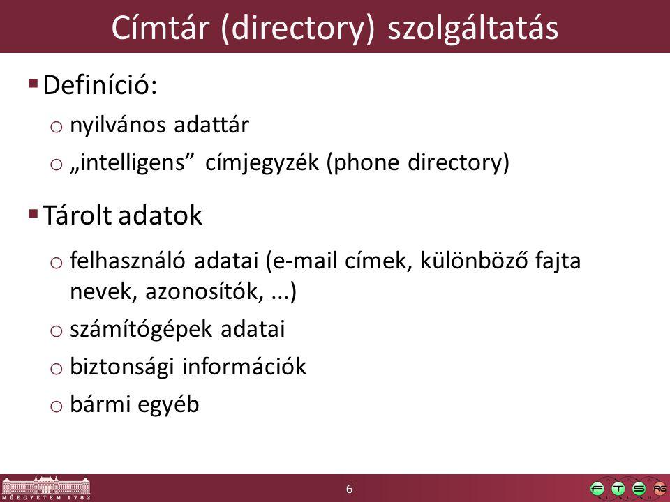 Címtár (directory) szolgáltatás