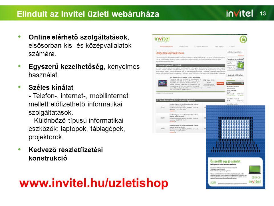 www.invitel.hu/uzletishop Elindult az Invitel üzleti webáruháza