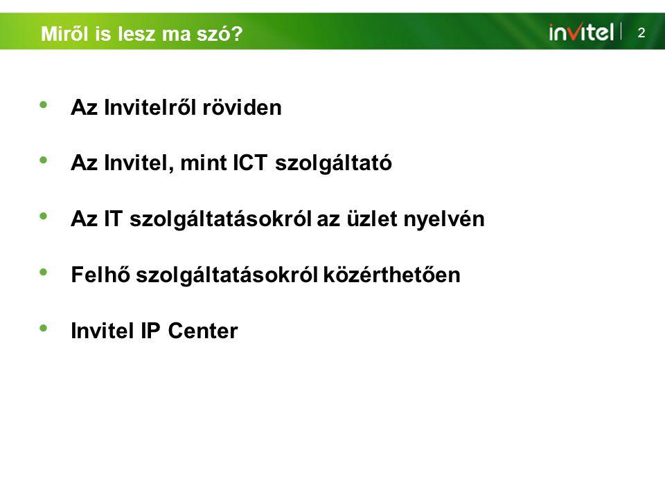 Az Invitel, mint ICT szolgáltató