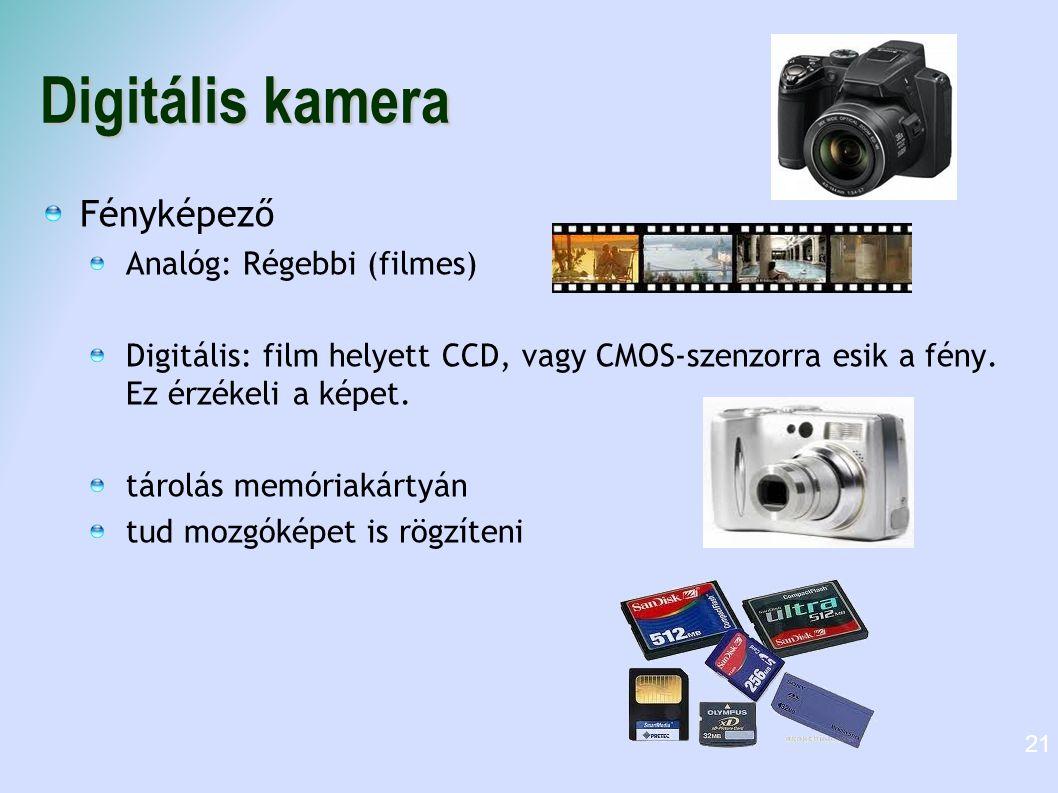 Digitális kamera Fényképező Analóg: Régebbi (filmes)