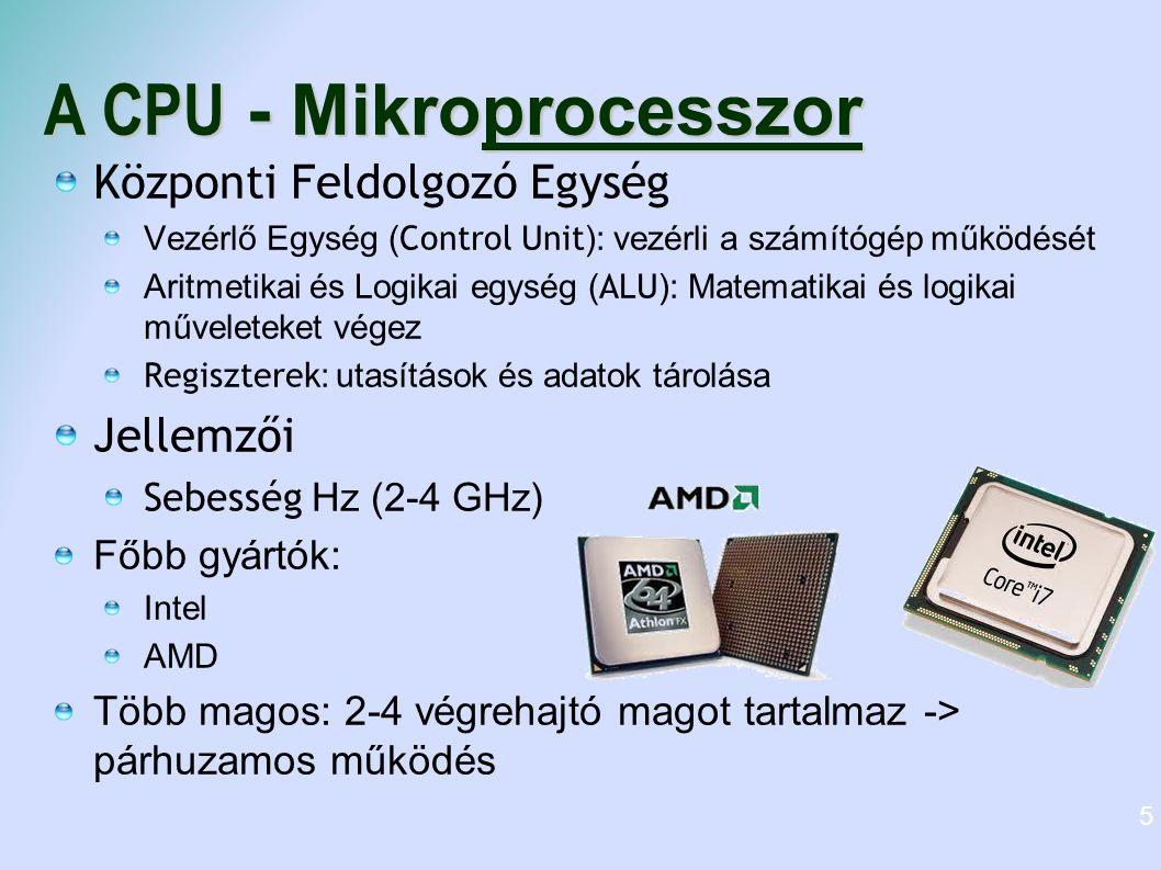 A CPU - Mikroprocesszor