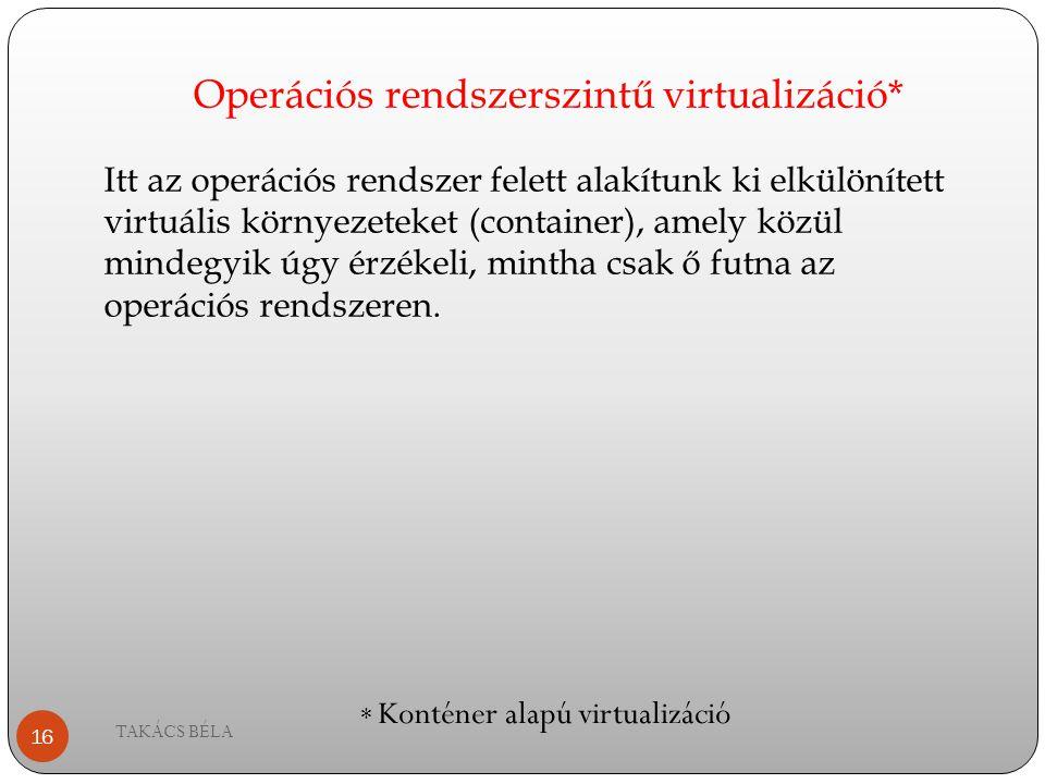 Operációs rendszerszintű virtualizáció*