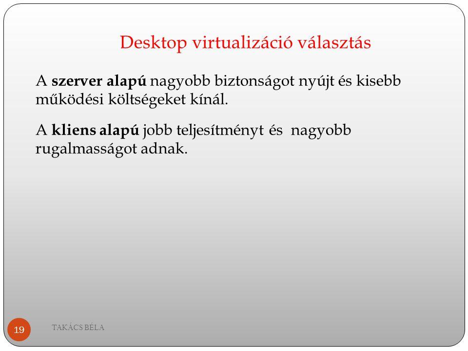 Desktop virtualizáció választás