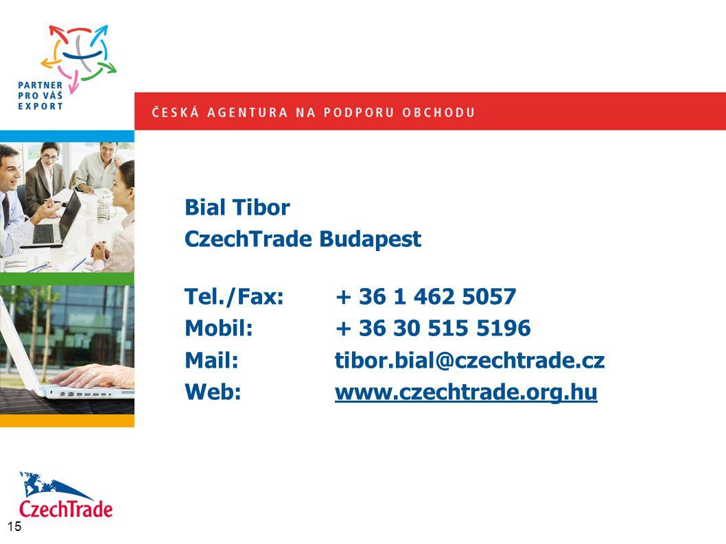 Bial Tibor CzechTrade Budapest Tel