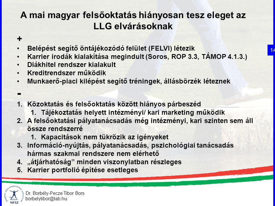 A mai magyar felsőoktatás hiányosan tesz eleget az LLG elvárásoknak