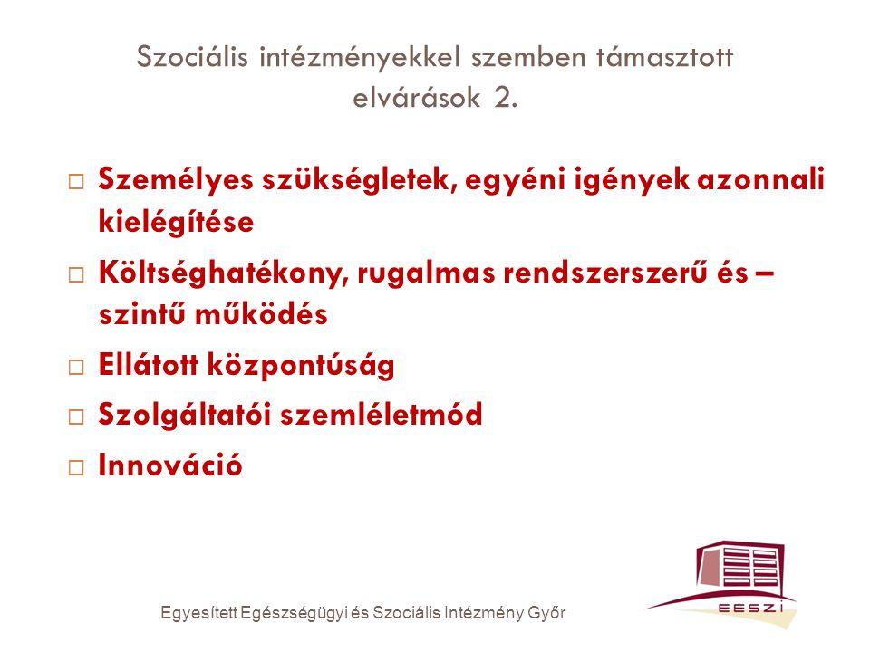 Szociális intézményekkel szemben támasztott elvárások 2.