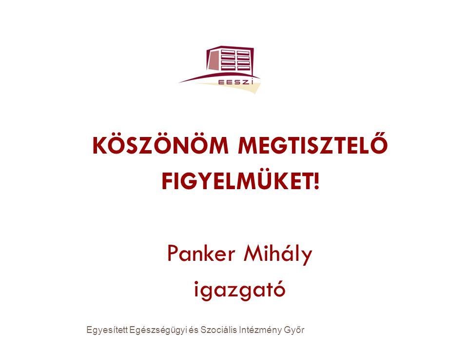 KÖSZÖNÖM MEGTISZTELŐ FIGYELMÜKET! Panker Mihály igazgató